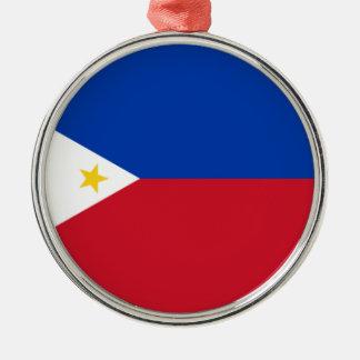 フィリピン(Pilipinas)の旗 メタルオーナメント