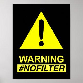 フィルタースピーカーを警告しない収穫 ポスター