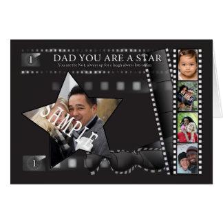 フィルムのストリップの写真の父の日の挨拶状 カード