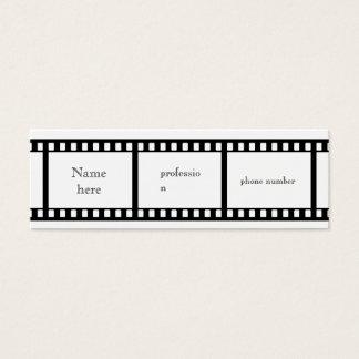 フィルムのストリップの名刺 スキニー名刺