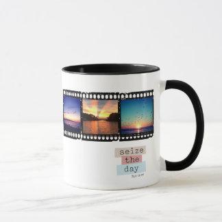 フィルムのストリップのinstagramの写真のマグ マグカップ