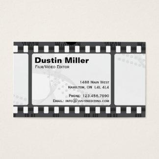 フィルムのストリップ-白 名刺