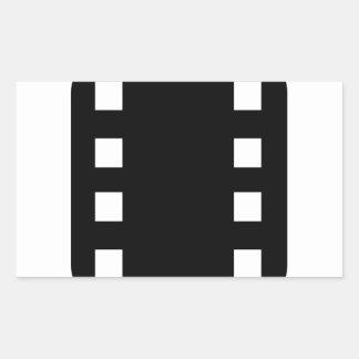 フィルムのストリップ 長方形シール