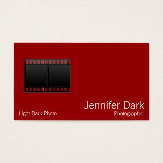 フィルムの写真のカメラマン 名刺