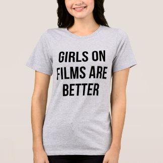 フィルムのTumblrのTシャツの女の子はよりよいです Tシャツ