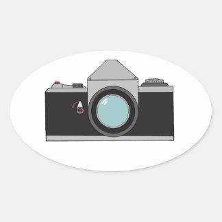 フィルムSLRのカメラ 楕円形シール