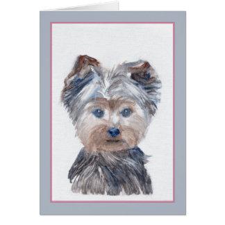 フィルモア犬の挨拶状 グリーティングカード