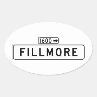 フィルモアSt.のサンフランシスコの道路標識 楕円形シール