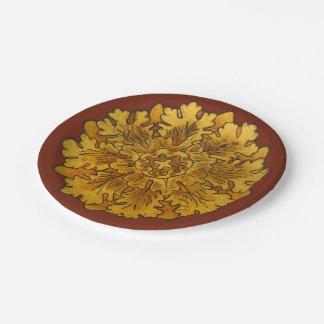 フィレンツェのかし葉章の紙皿 ペーパープレート