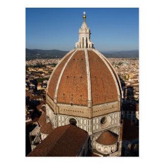 フィレンツェのカテドラルの郵便はがきのドーム ポストカード