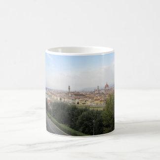 フィレンツェのスカイライン コーヒーマグカップ