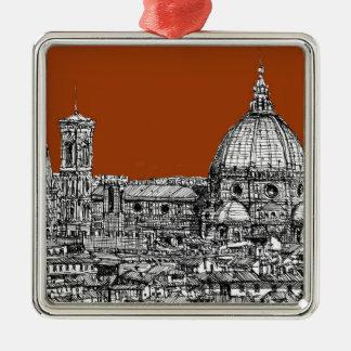 フィレンツェのセピア色の茶色 メタルオーナメント