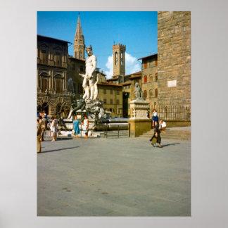 フィレンツェのデイヴィッド、ミケランジェロの彫像 ポスター