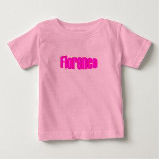 フィレンツェのピンクの短い袖のTシャツ ベビーTシャツ