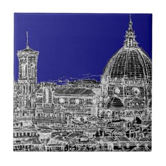 フィレンツェのロイヤルブルー タイル