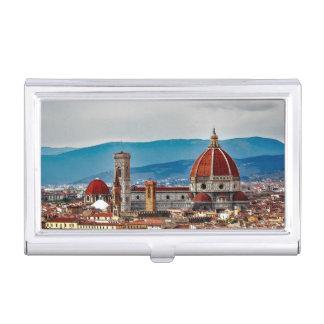 フィレンツェの古い都市、イタリアのスカイライン 名刺入れ