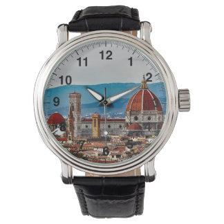 フィレンツェの古い都市、イタリアのスカイライン 腕時計