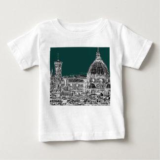 フィレンツェの建築のスケッチ ベビーTシャツ