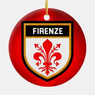 フィレンツェの旗 セラミックオーナメント