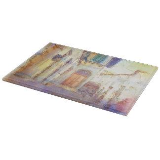 フィレンツェの眺めは芸術的な水彩画で作りました カッティングボード
