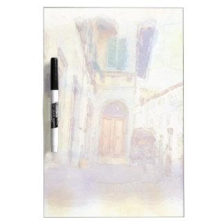 フィレンツェの眺めは芸術的な水彩画で作りました ホワイトボード