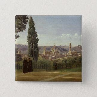 フィレンツェの眺め 5.1CM 正方形バッジ