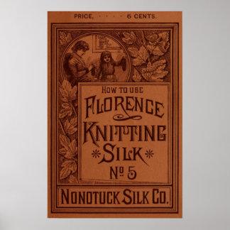 フィレンツェの編み物の絹カバー ポスター