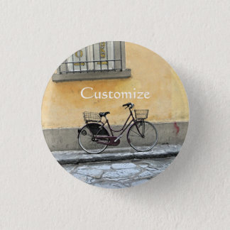 フィレンツェの自転車 3.2CM 丸型バッジ