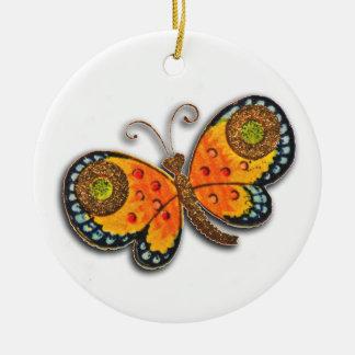 フィレンツェの蝶絵画のオーナメント セラミックオーナメント