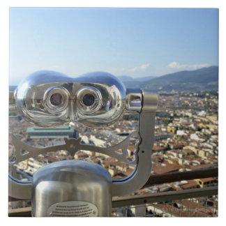 フィレンツェの都市景観、上を見落とす双眼鏡 タイル