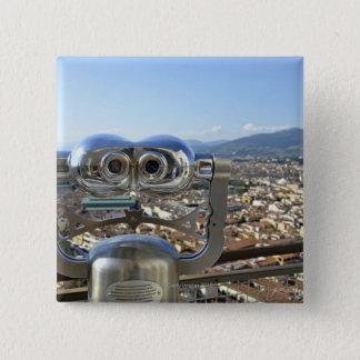 フィレンツェの都市景観、上を見落とす双眼鏡 5.1CM 正方形バッジ