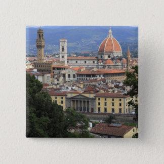 フィレンツェの都市景観 5.1CM 正方形バッジ