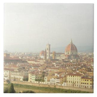 フィレンツェまたはフィレンツェイタリアの都市景観 タイル