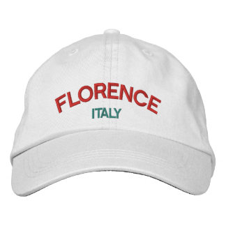 フィレンツェイタリアの名前入りで調節可能な帽子 刺繍入りキャップ