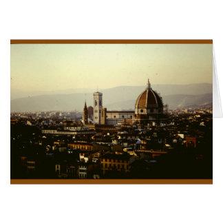 フィレンツェ上の眺め カード