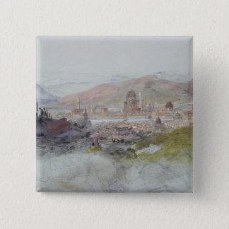 フィレンツェ1837-39年の眺め 5.1CM 正方形バッジ