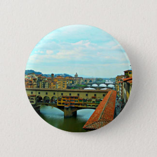 フィレンツェ、イタリアのショッピング橋 5.7CM 丸型バッジ