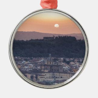 フィレンツェ、イタリア上の日没 メタルオーナメント