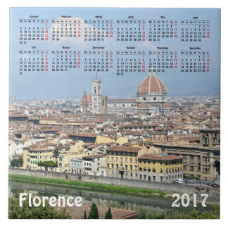 フィレンツェ、イタリア2017のカレンダー タイル