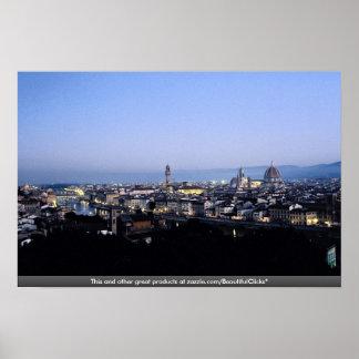 フィレンツェ、イタリア ポスター
