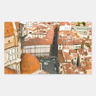フィレンツェ、イタリア(大教会堂) 長方形シール
