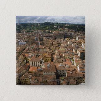フィレンツェ、イタリア 5.1CM 正方形バッジ