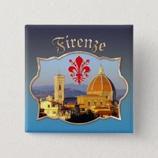 フィレンツェ-サンタマリアdel Fiore 5.1cm 正方形バッジ