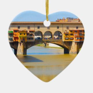 フィレンツェ-フィレンツェのPonteのvecchio セラミックオーナメント