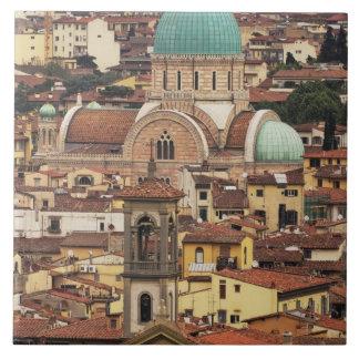 フィレンツェ、広場からのイタリアの眺め タイル