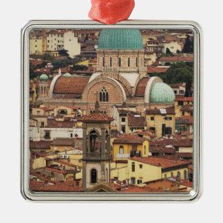 フィレンツェ、広場からのイタリアの眺め メタルオーナメント