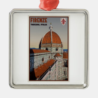 フィレンツェ-鐘桜からのカテドラル メタルオーナメント