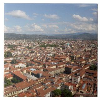 フィレンツェ、2の上からイタリアの眺め タイル