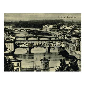 フィレンツェ、River Arno ポストカード