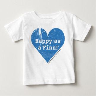 フィンの乳児のTシャツとして幸せ ベビーTシャツ